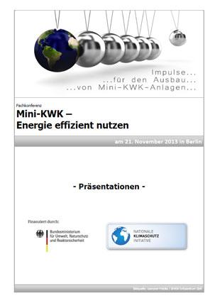 Der Konferenzband zur Mini-KWK-Konferenz enthält alle Vortragsfolien sowie Bildimpressionen zur Veranstaltung, die von rund 140 Konferenzteilnehmern besucht wurde (Bild: BHKW-Infozentrum)